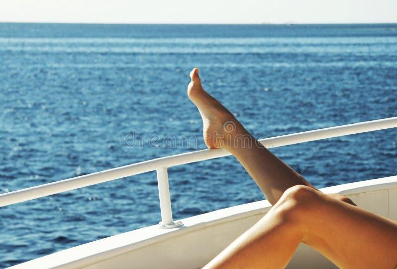 jacht odprężona obrazy stock