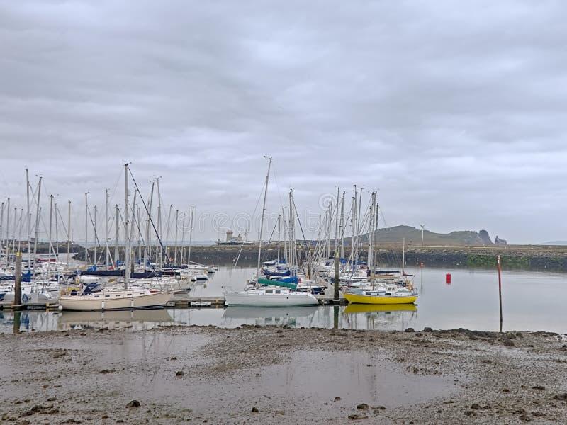 Jachten in de haven van Howth, Ierland stock fotografie
