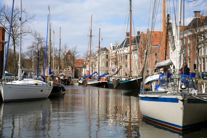 Jachten in Groningen. Nederland. stock afbeelding