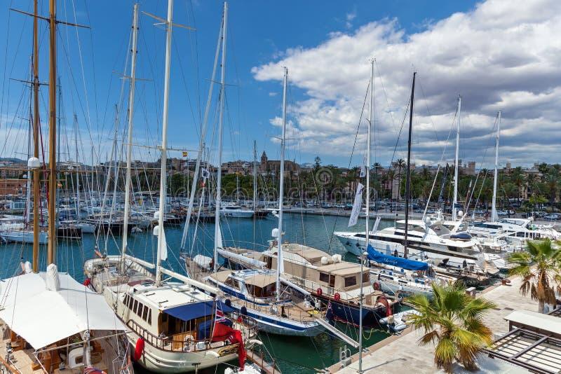 Jachten op palma DE Mallorca stock afbeelding