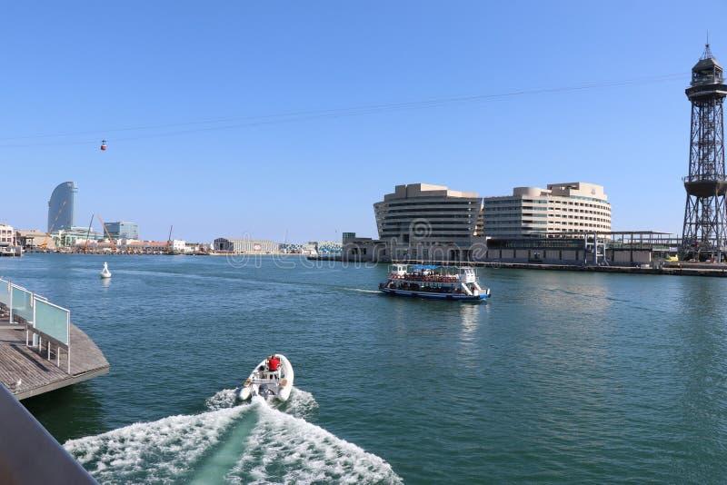 Jachten op zee stock afbeelding