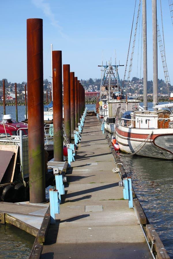Jachthafen in Astoria Oregon. stockbild