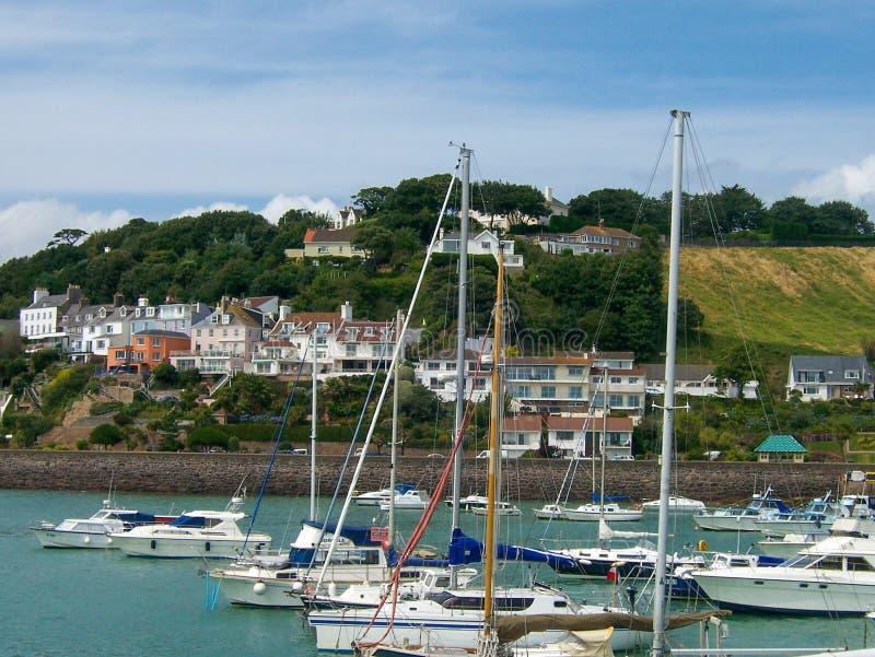 Jachthafen auf der Insel von Jersey lizenzfreies stockfoto