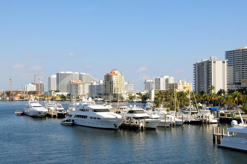 Jachthafen, Boote, yachts Florida stockfoto
