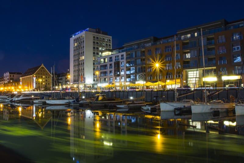 Jachthafen in der Stadt von Gdansk polen stockfotografie