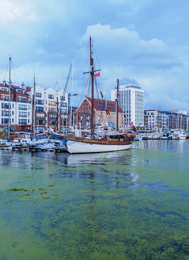 Jachthafen Gdansk lizenzfreie stockbilder