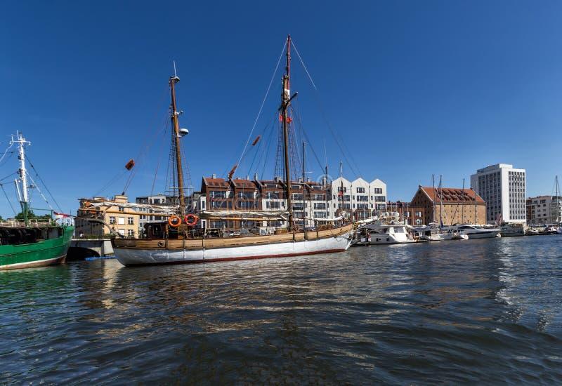 Jachthafen Gdansk lizenzfreie stockfotos
