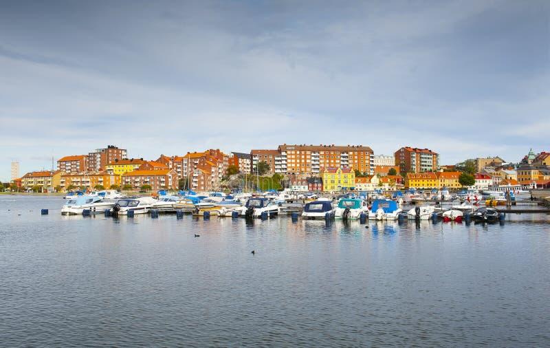Jachthafen in Karlskrona lizenzfreie stockfotos