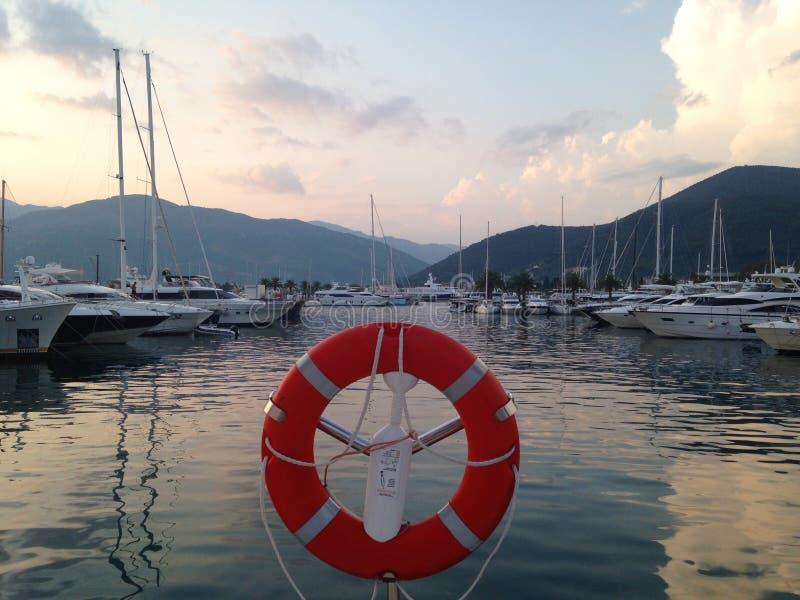 Jachthafen Porto Montenegro im tivat lizenzfreie stockbilder