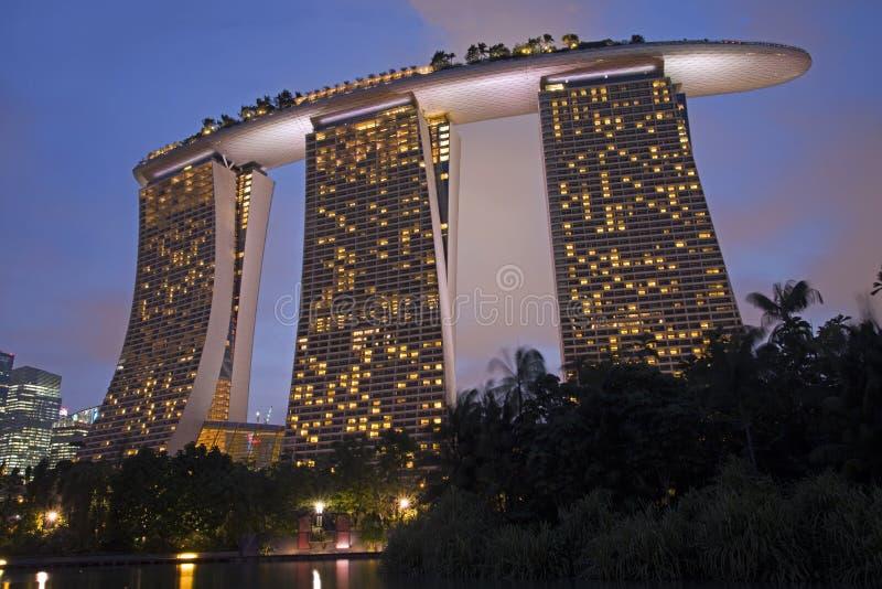 Jachthafen-Schacht-Sande, Singapur lizenzfreie stockbilder