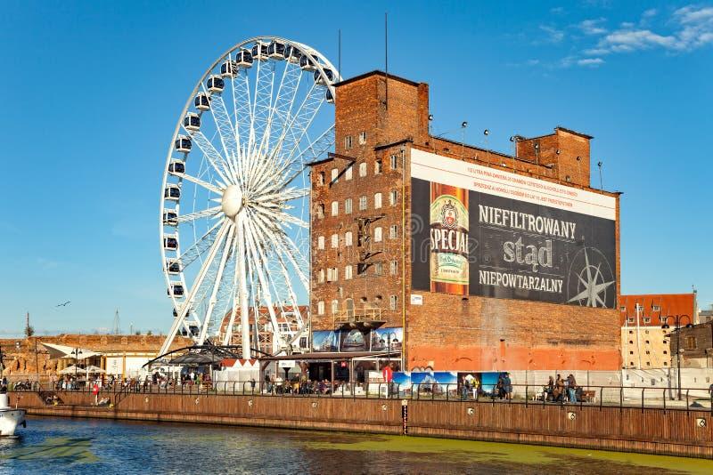 Jachthafen von Gdansk stockfotos