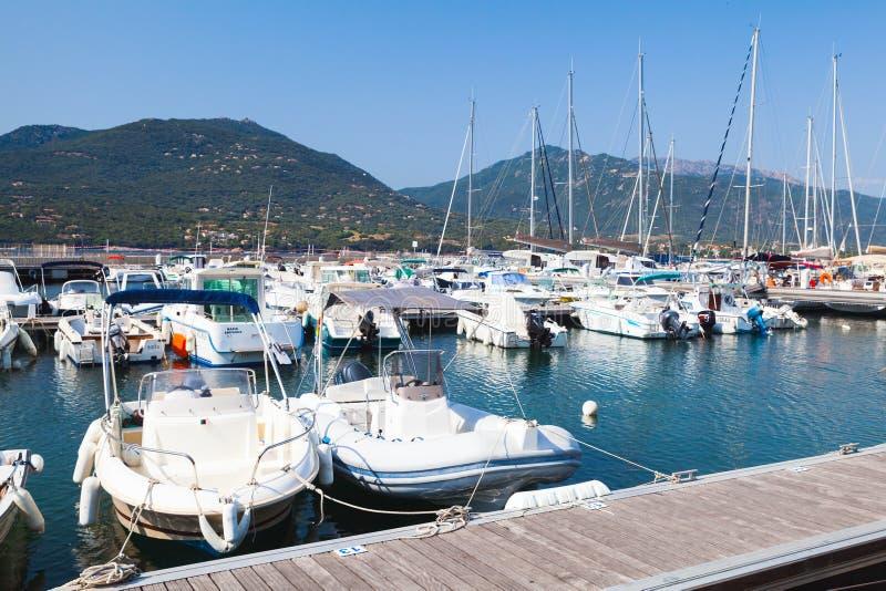 Jachthafen von Propriano, Südregion von Korsika lizenzfreie stockfotos