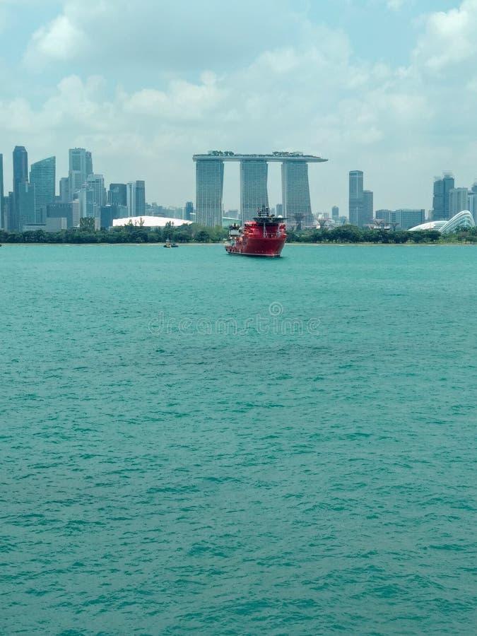 Jachthafenbucht-Singapur-Bild lizenzfreie stockfotos
