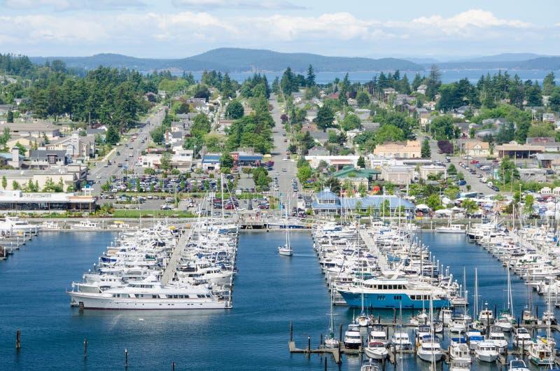 Jachthaven in Anacortes, Washington stock afbeelding