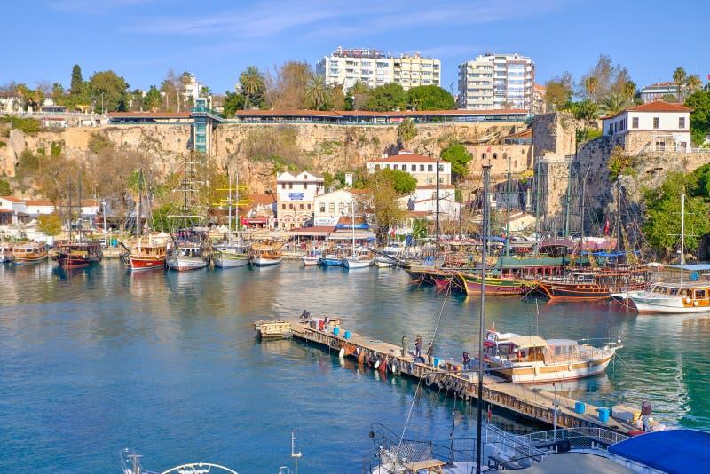 Jachthaven in Antalya royalty-vrije stock foto's