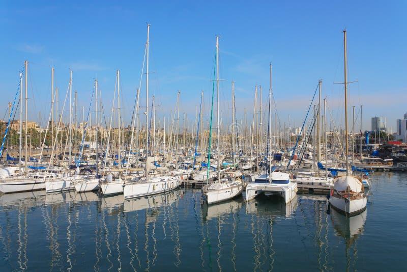 jachthaven Barselona royalty-vrije stock afbeelding