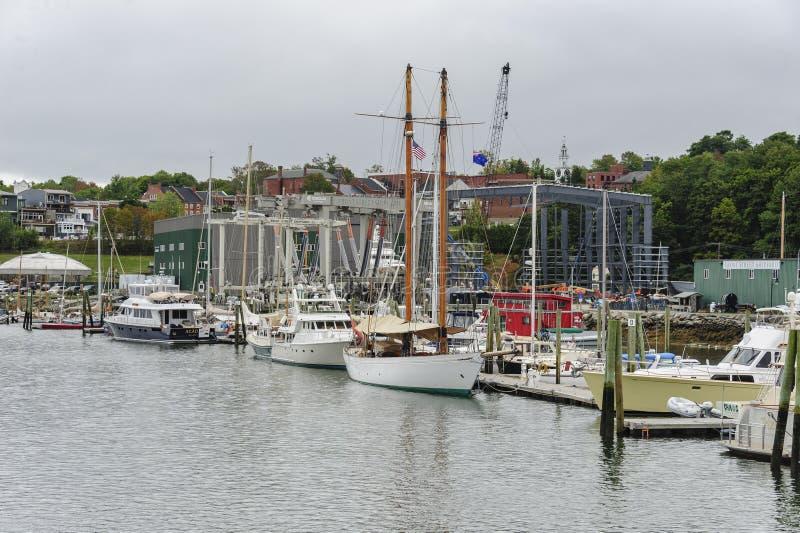 Jachthaven in Belfast, Maine royalty-vrije stock afbeeldingen