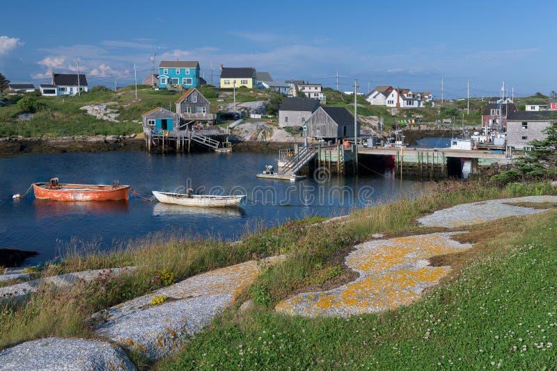 Jachthaven bij de Inham van Peggy ` s in Nova Scotia royalty-vrije stock fotografie