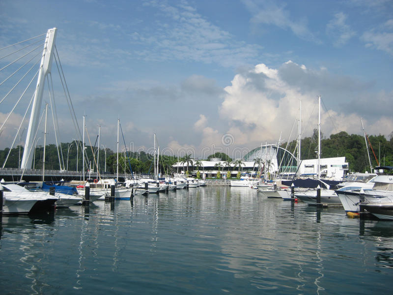 Jachthaven bij Keppel-Baai royalty-vrije stock foto