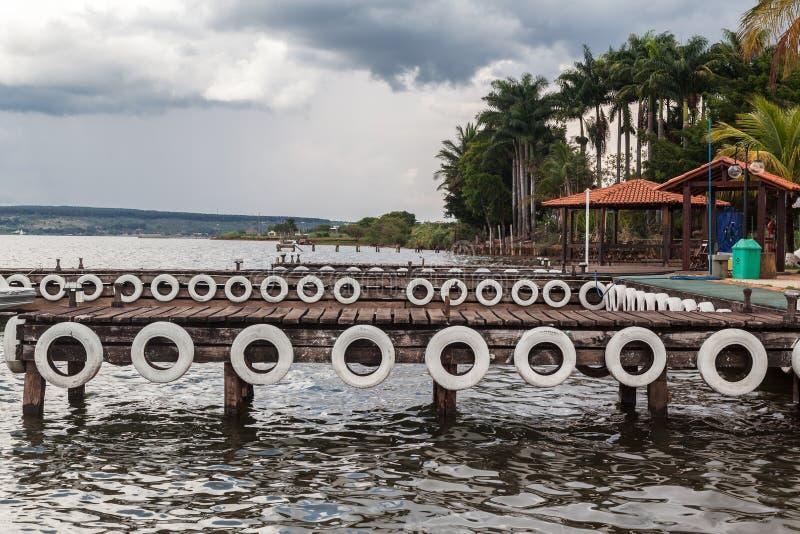 Jachthaven in Brasilia stock foto