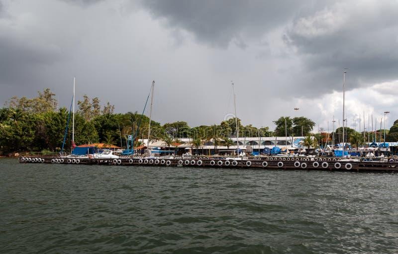 Jachthaven in Brasilia stock fotografie