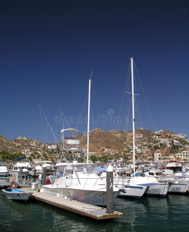Jachthaven Cabo San Lucas royalty-vrije stock afbeelding