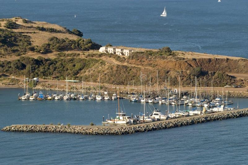 Jachthaven in de Baai van San Francisco stock fotografie