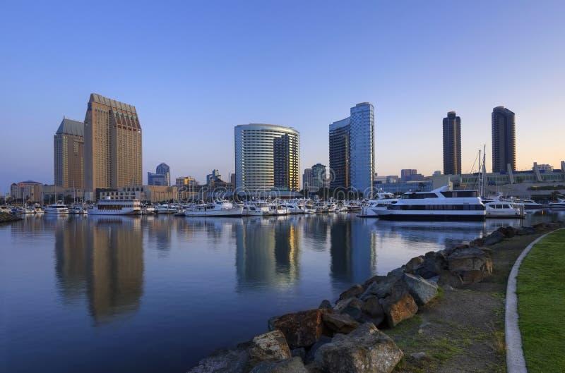 Jachthaven de van de binnenstad van San Diego stock foto's