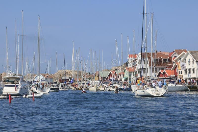 Jachthaven in de zomer royalty-vrije stock afbeelding