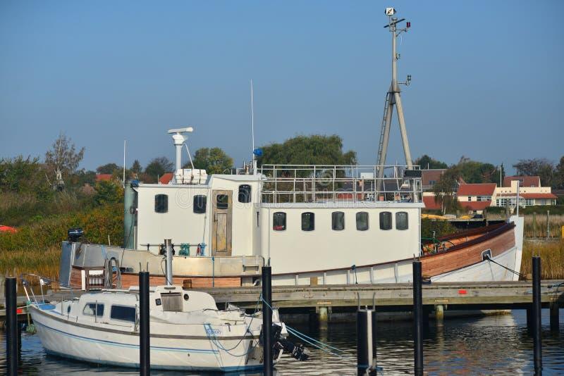 Jachthaven in Karrebaeksminde in Denemarken stock foto