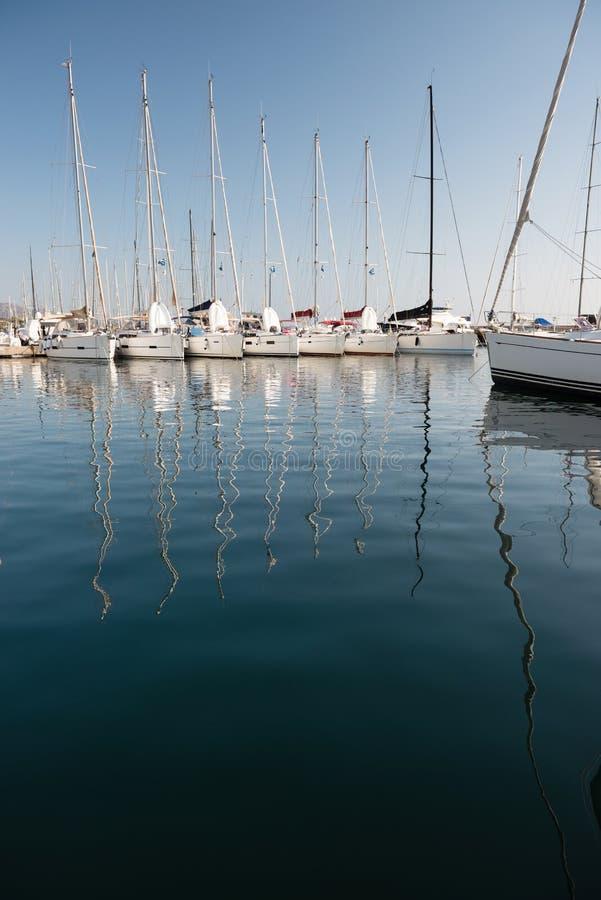 Jachthaven van Portisco, Sardinige stock afbeeldingen