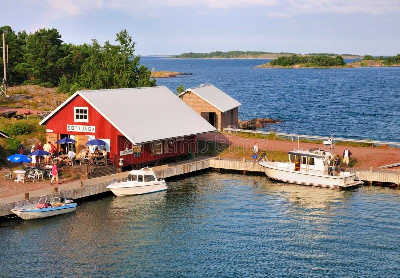 Jachthaven van Sottunga, Finland stock foto