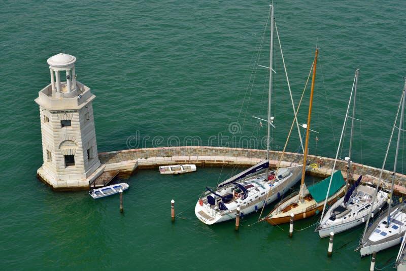 Jachthaven in Venetië royalty-vrije stock fotografie
