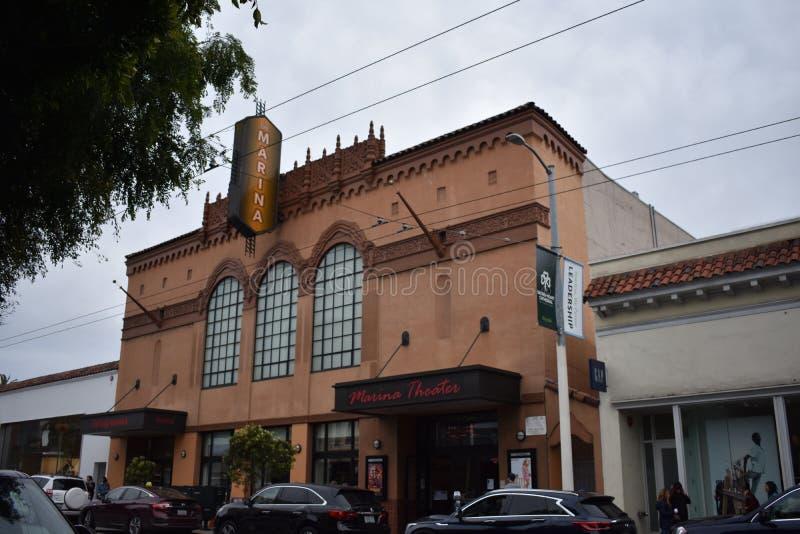 Jachthavenbioscoop, één van de laatste originele theaters ging in San Francisco, 2 weg stock afbeelding