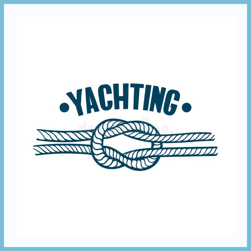 Jachtingowa odznaka Z arkaną royalty ilustracja