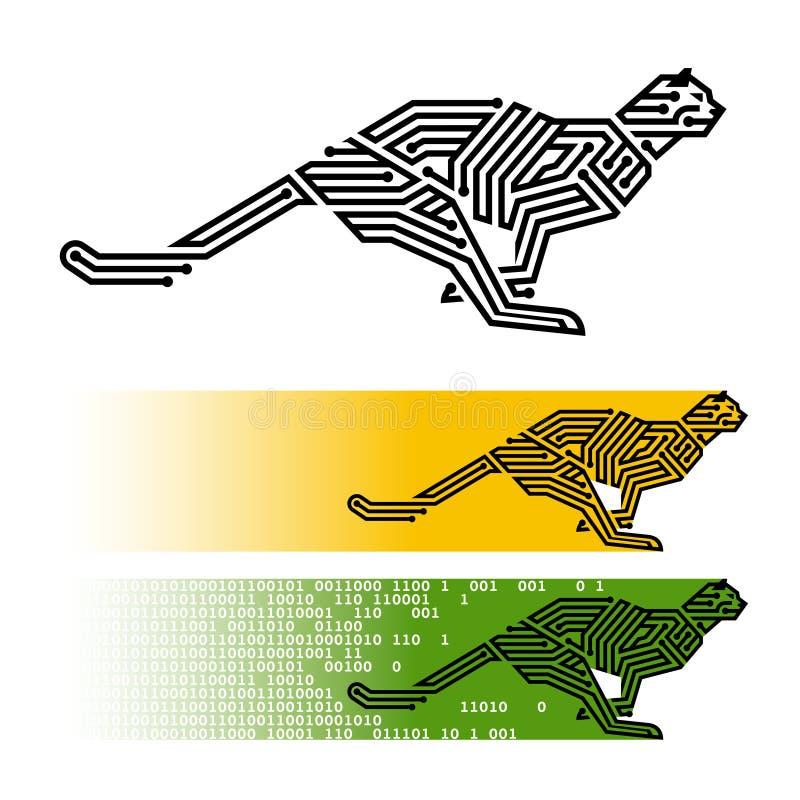 Jachtluipaard stock illustratie