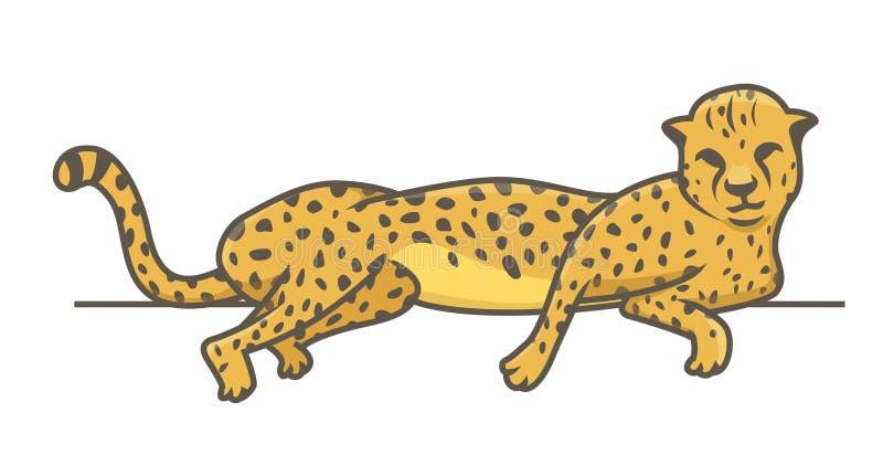 Jachtluipaard die Vectorillustratie bepalen royalty-vrije illustratie