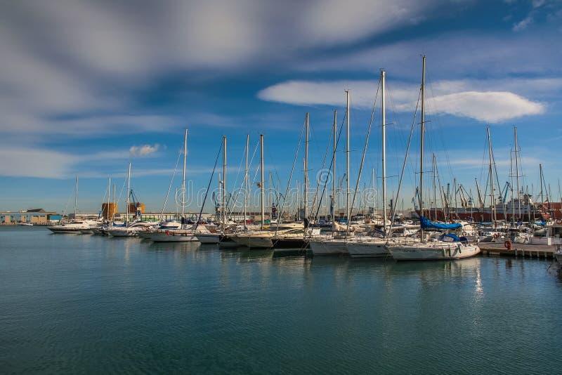 Jachtu klub Castellon obrazy royalty free
