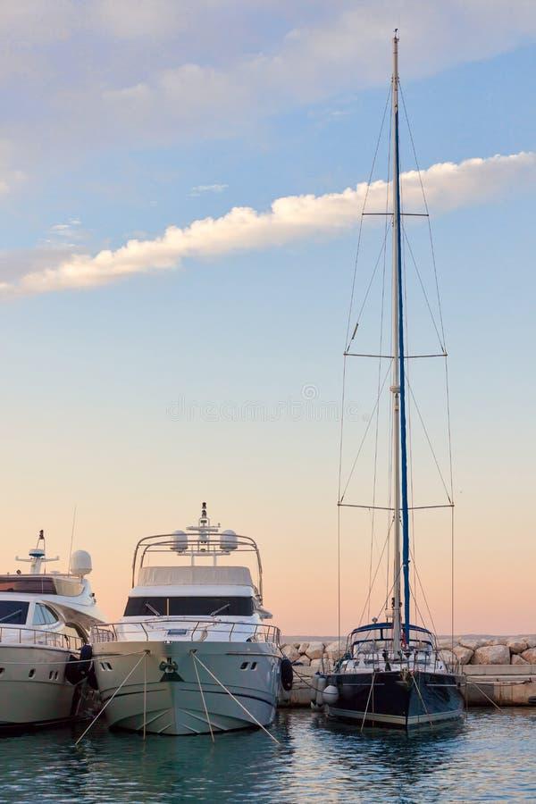 Jachty i łodzie obraz royalty free