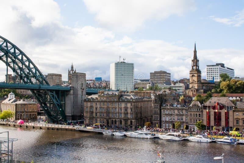 Jachty na Tyne rzece fotografia royalty free
