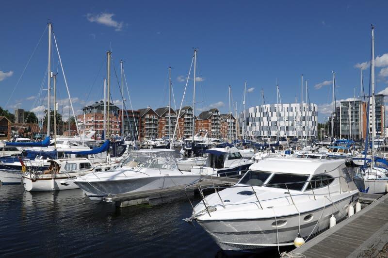 Jachty w Ipswich marina obrazy royalty free