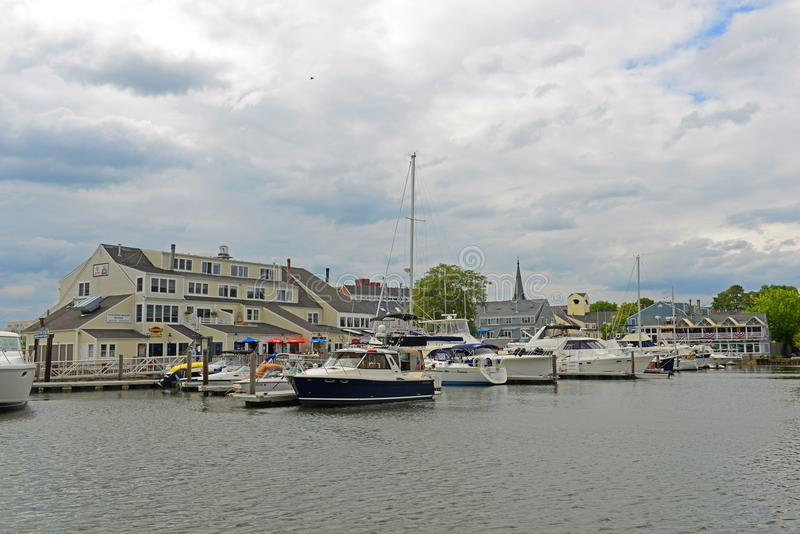 Jachty w Salem schronieniu, MA, usa obrazy stock
