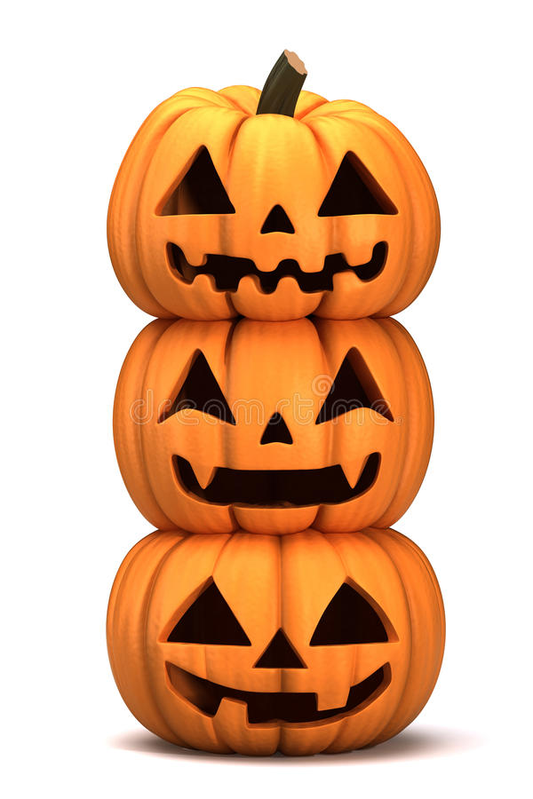 Download Jack 0 Lanterns stock illustration. Image of render, haunting - 26988845