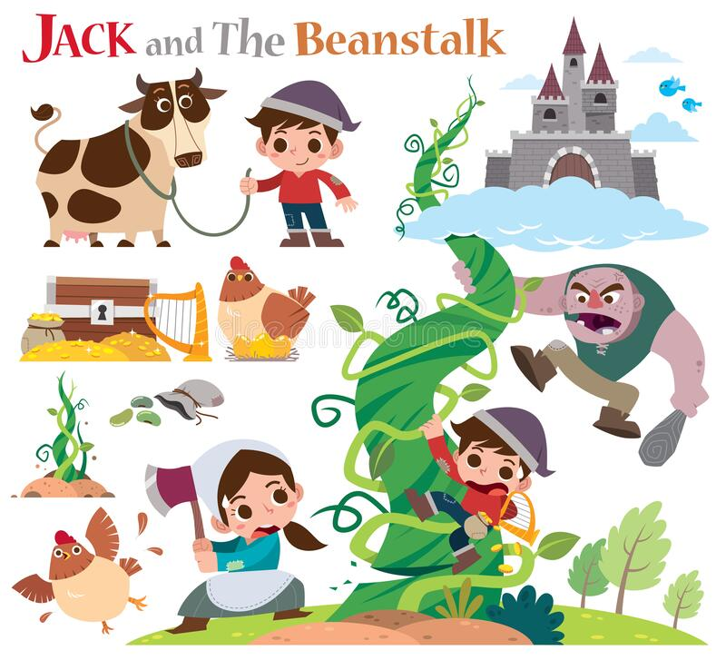 Jack And The Beanstalk Clip Art - Royalty Free - GoGraph