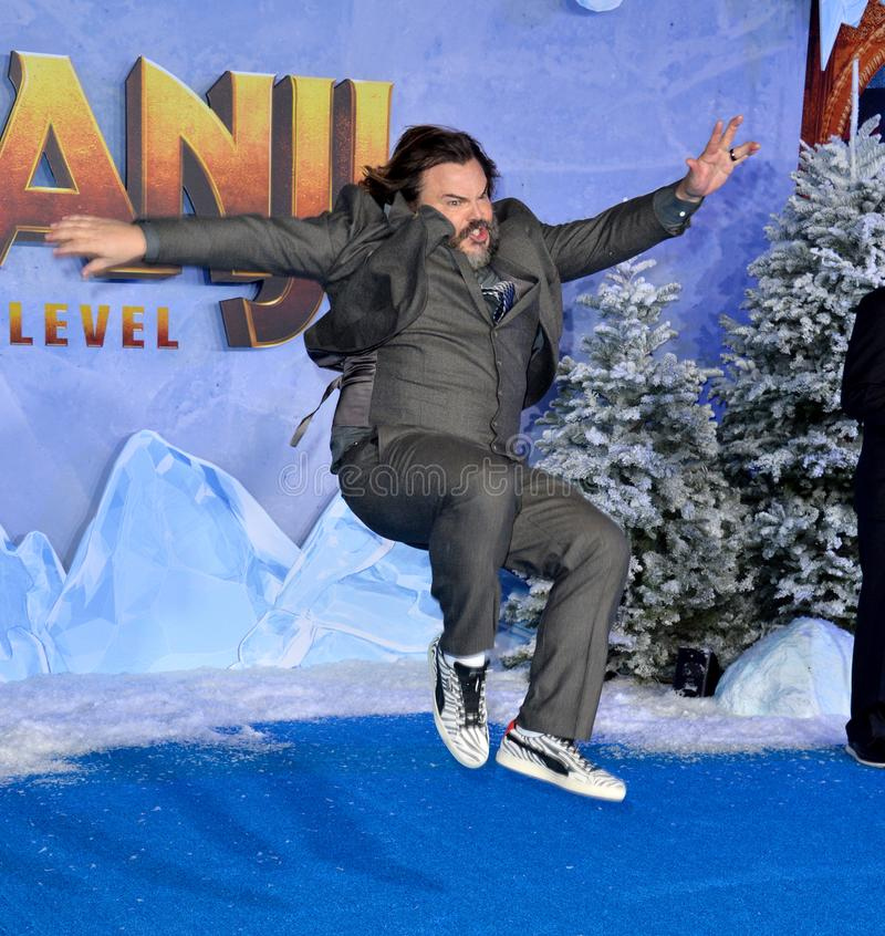 Jack Black. LOS ANGELES, USA. December 10, 2019: Jack Black at the world premiere of Jumanji: The Next Level at the TCL Chinese Theatre..Picture: Paul Smith/ stock photo
