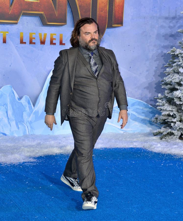 Jack Black. LOS ANGELES, USA. December 10, 2019: Jack Black at the world premiere of Jumanji: The Next Level at the TCL Chinese Theatre..Picture: Paul Smith/ stock image