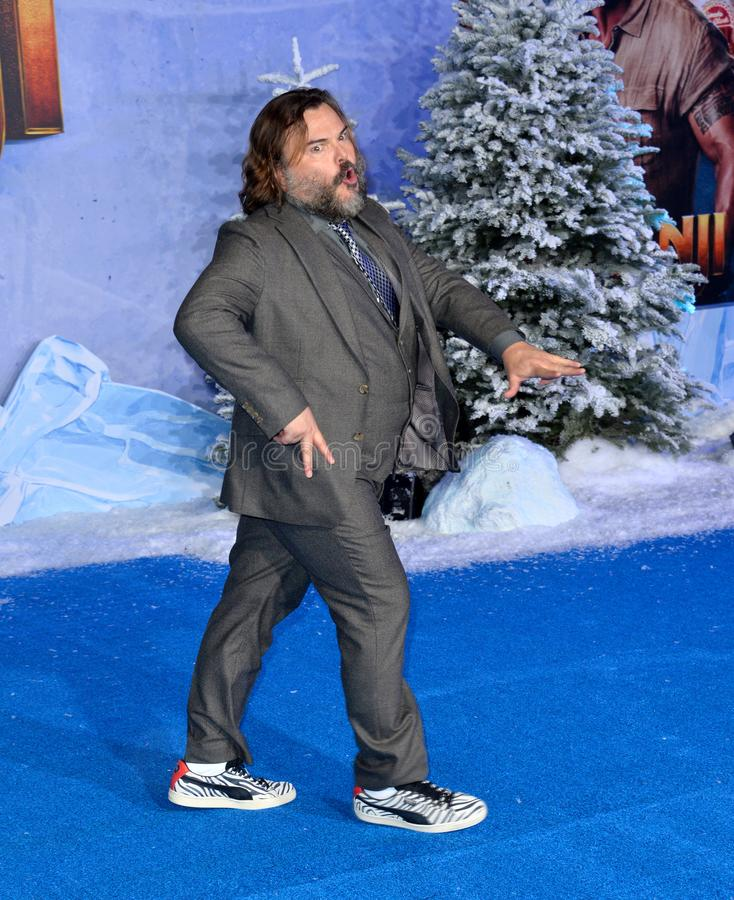 Jack Black. LOS ANGELES, USA. December 10, 2019: Jack Black at the world premiere of Jumanji: The Next Level at the TCL Chinese Theatre..Picture: Paul Smith/ royalty free stock image