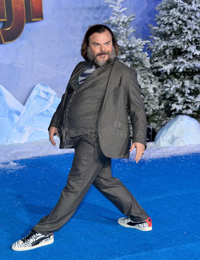 Jack Black. LOS ANGELES, USA. December 10, 2019: Jack Black at the world premiere of Jumanji: The Next Level at the TCL Chinese Theatre..Picture: Paul Smith/ royalty free stock photography