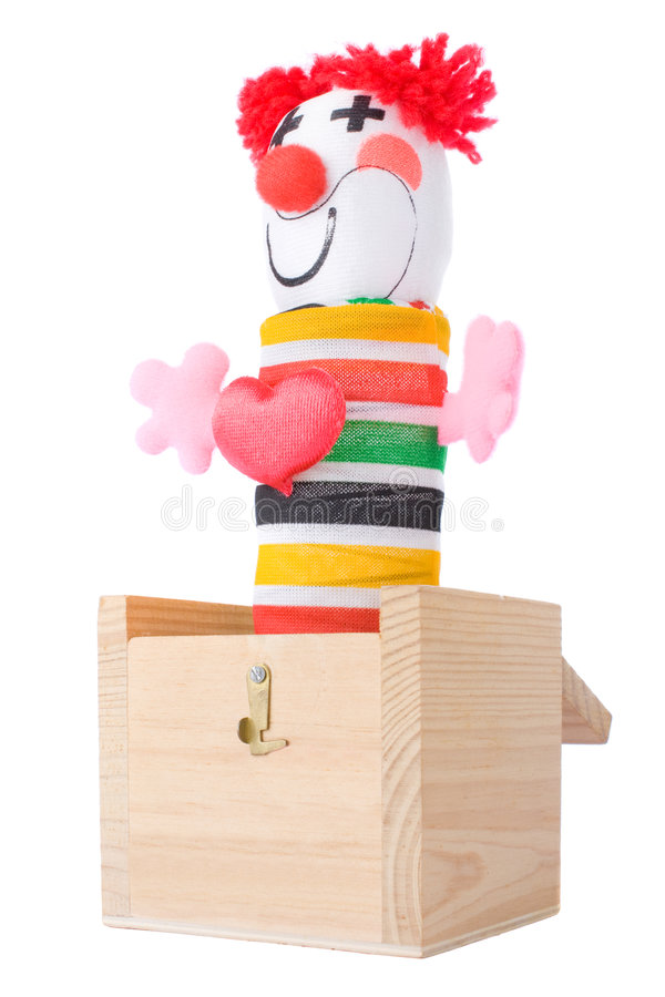 Download Jack-in-the-box stock photo. Image of stripe, puppet, cutout - 6465666