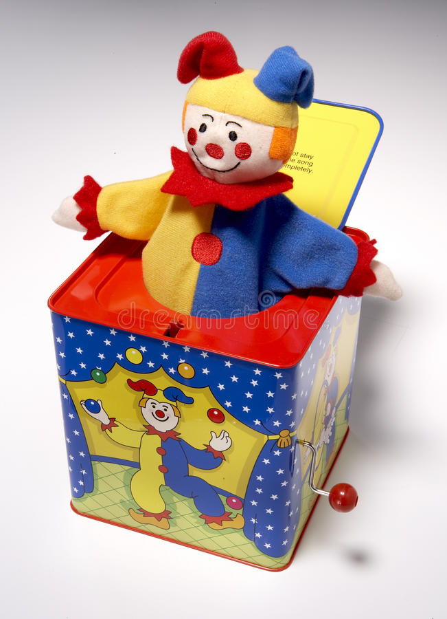 Download Jack in the box, clown stock image. Image of stripe, dummy - 10189355